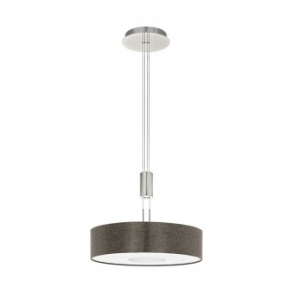 EGLO 95339 | Romao Eglo függeszték lámpa ellensúlyos, állítható magasság, szabályozható fényerő 1x LED 2450lm 3000K matt nikkel, króm, barna
