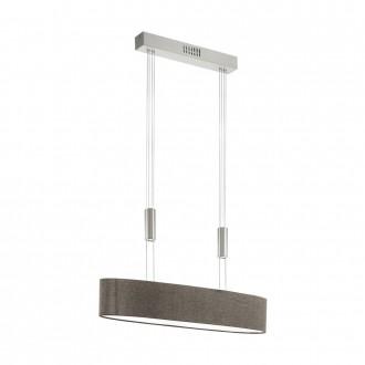 EGLO 95341 | Romao Eglo függeszték lámpa ellensúlyos, állítható magasság, szabályozható fényerő 4x LED 8000lm 3000K matt nikkel, króm, barna