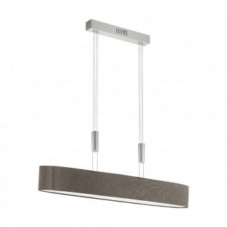 EGLO 95342 | Romao Eglo függeszték lámpa ellensúlyos, állítható magasság, szabályozható fényerő 1x LED 3000lm 3000K matt nikkel, króm, barna