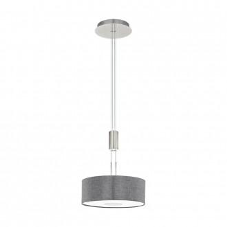 EGLO 95347 | Romao Eglo függeszték lámpa ellensúlyos, állítható magasság, szabályozható fényerő 1x LED 1600lm 3000K matt nikkel, króm, szürke