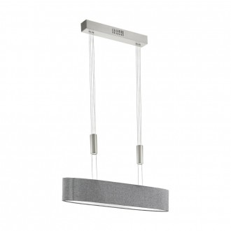 EGLO 95349 | Romao Eglo függeszték lámpa ellensúlyos, állítható magasság, szabályozható fényerő 4x LED 8000lm 3000K matt nikkel, króm, szürke