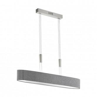 EGLO 95351 | Romao Eglo függeszték lámpa ellensúlyos, állítható magasság, szabályozható fényerő 1x LED 3000lm 3000K matt nikkel, króm, szürke