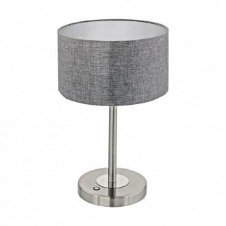 EGLO 95352 | Romao Eglo asztali lámpa 44,5cm fényerőszabályzós érintőkapcsoló 1x LED 1020lm 3000K matt nikkel, króm, szürke