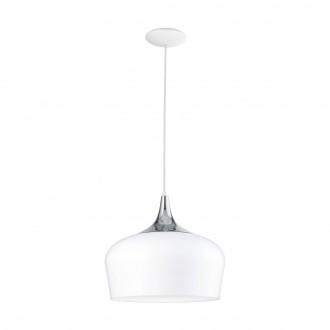 EGLO 95384 | Obregon Eglo függeszték lámpa 1x E27 fehér, króm