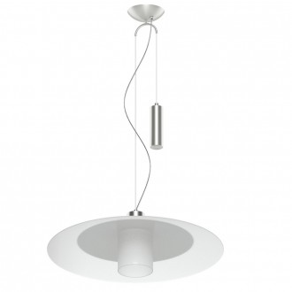 EGLO 95462 | Cabral Eglo függeszték lámpa ellensúlyos, állítható magasság 1x E27 matt nikkel, fehér