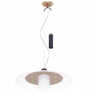 EGLO 95464 | Cabral Eglo függeszték lámpa ellensúlyos, állítható magasság 1x E27 vörösréz, fehér, fekete