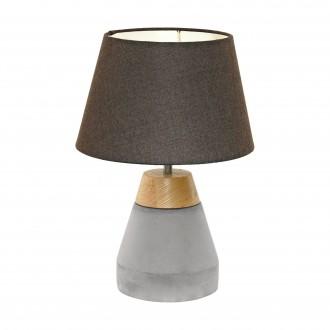 EGLO 95527 | Tarega Eglo asztali lámpa 37cm vezeték kapcsoló 1x E27 szürke, barna