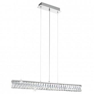 EGLO 95543 | EGLO-Smart_Tellugio-S Eglo függeszték okos világítás szabályozható fényerő, állítható színhőmérséklet 1x LED 4380lm 2700 <-> 5000K króm, átlátszó, fehér