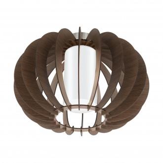 EGLO 95589 | Stellato Eglo mennyezeti lámpa 1x E27 barna, fehér, matt nikkel