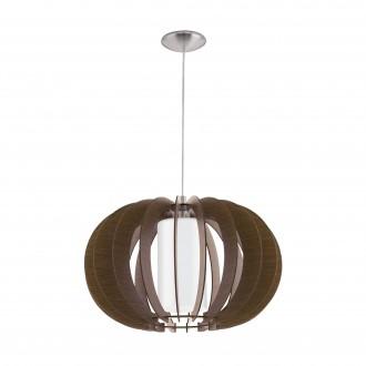 EGLO 95592   Stellato Eglo függeszték lámpa 1x E27 barna, fehér, matt nikkel