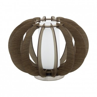 EGLO 95595 | Stellato Eglo asztali lámpa 21,5cm vezeték kapcsoló 1x E27 barna, fehér, matt nikkel