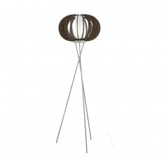 EGLO 95596 | Stellato Eglo álló lámpa 159cm taposókapcsoló 1x E27 barna, fehér, matt nikkel