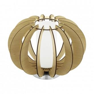 EGLO 95603 | Stellato Eglo asztali lámpa 21,5cm vezeték kapcsoló 1x E27 juhar, fehér, matt nikkel