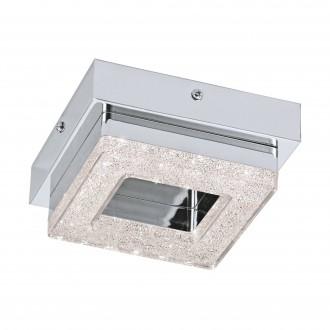 EGLO 95655 | Fradelo Eglo fali, mennyezeti lámpa 1x LED 400lm 3000K króm, áttetsző