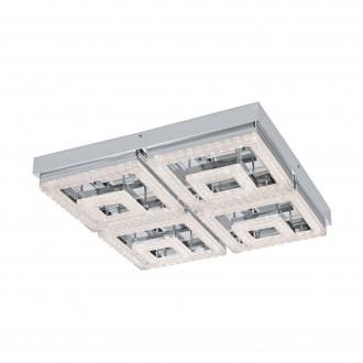 EGLO 95661 | Fradelo Eglo mennyezeti lámpa 1x LED 5000lm 3000K króm, áttetsző