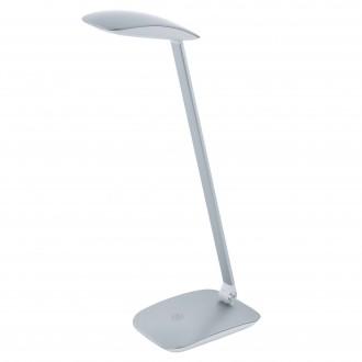 EGLO 95694   Cajero Eglo asztali lámpa 50cm fényerőszabályzós érintőkapcsoló szabályozható fényerő, USB csatlakozó, elforgatható alkatrészek 1x LED 550lm 4000K ezüst