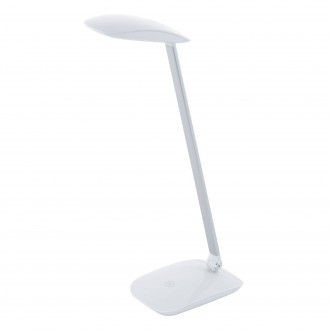 EGLO 95695   Cajero Eglo asztali lámpa 50cm fényerőszabályzós érintőkapcsoló szabályozható fényerő, USB csatlakozó, elforgatható alkatrészek 1x LED 550lm 4000K fehér