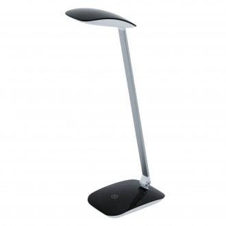 EGLO 95696 | Cajero Eglo asztali lámpa 50cm fényerőszabályzós érintőkapcsoló USB csatlakozó 1x LED 550lm 4000K fekete