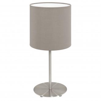 EGLO 95726 | Eglo-Pasteri-T Eglo asztali lámpa 27,5cm vezeték kapcsoló 1x E14 matt nikkel, taupe