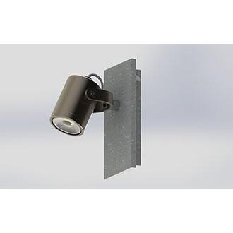EGLO 95741   Praceta Eglo fali lámpa kapcsoló elforgatható alkatrészek 1x GU10 240lm 3000K matt nikkel, szürke, króm