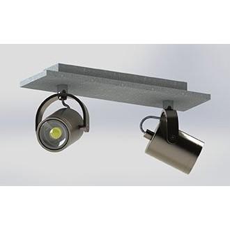 EGLO 95742 | Praceta Eglo spot lámpa elforgatható alkatrészek 2x GU10 480lm 3000K matt nikkel, szürke, króm