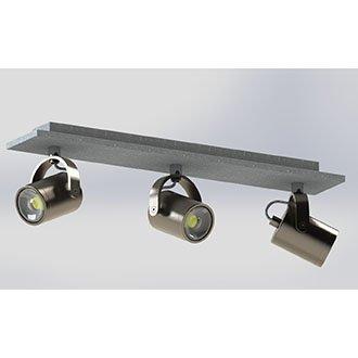 EGLO 95743   Praceta Eglo spot lámpa elforgatható alkatrészek 3x GU10 720lm 3000K matt nikkel, szürke, króm