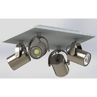EGLO 95744 | Praceta Eglo spot lámpa elforgatható alkatrészek 4x GU10 960lm 3000K matt nikkel, szürke, króm