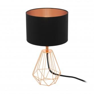 EGLO 95787 | Carlton Eglo asztali lámpa 30,5cm vezeték kapcsoló 1x E14 vörösréz, fekete