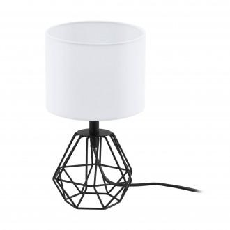 EGLO 95789 | Carlton Eglo asztali lámpa 30,5cm vezeték kapcsoló 1x E14 fekete, fehér
