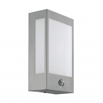 EGLO 95989 | Ralora Eglo fali lámpa mozgásérzékelő, fényérzékelő szenzor - alkonykapcsoló 1x LED 1000lm 3000K IP44 nemesacél, rozsdamentes acél, fehér