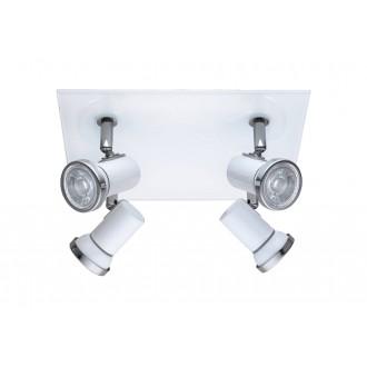 EGLO 95995 | Tamara1-LED Eglo spot lámpa négyzet elforgatható alkatrészek 4x GU10 960lm 3000K IP44 fehér, króm