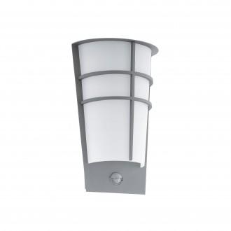 EGLO 96017 | Breganzo Eglo fali lámpa mozgásérzékelő 2x LED 360lm 3000K IP44 ezüst, fehér