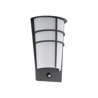 EGLO 96018 | Breganzo Eglo fali lámpa mozgásérzékelő 2x LED 360lm 3000K IP44 antracit, fehér