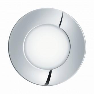 EGLO 96053 | Fueva-1 Eglo beépíthető LED panel kerek Ø85mm 1x LED 300lm 3000K IP44 króm, fehér