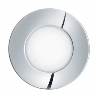 EGLO 96054 | Fueva-1 Eglo beépíthető LED panel kerek Ø85mm 1x LED 360lm 4000K IP44 króm, fehér