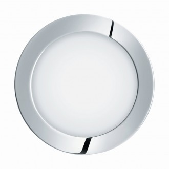 EGLO 96056 | Fueva-1 Eglo beépíthető LED panel kerek Ø170mm 1x LED 1350lm 4000K IP44 króm, fehér