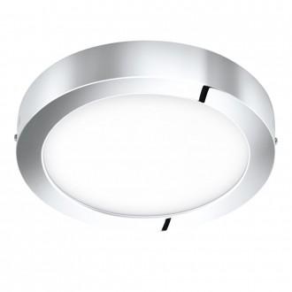 EGLO 96058 | Fueva-1 Eglo fali, mennyezeti LED panel kerek 1x LED 2200lm 3000K IP44 króm, fehér