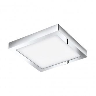 EGLO 96059 | Fueva-1 Eglo fali, mennyezeti LED panel négyzet 1x LED 2600lm 3000K IP44 króm, fehér