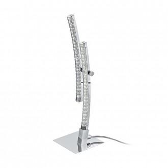 EGLO 96098 | Pertini Eglo asztali lámpa 33cm vezeték kapcsoló 2x LED 1000lm 3000K króm, átlátszó