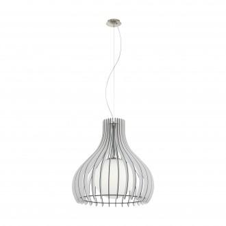 EGLO 96211   Tindori Eglo függeszték lámpa 1x E27 matt nikkel, fehér