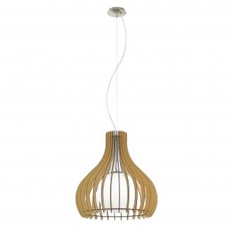 EGLO 96214   Tindori Eglo függeszték lámpa 1x E27 matt nikkel, juhar, fehér