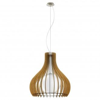 EGLO 96215   Tindori Eglo függeszték lámpa 1x E27 matt nikkel, juhar, fehér