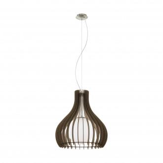 EGLO 96217   Tindori Eglo függeszték lámpa 1x E27 matt nikkel, barna, fehér