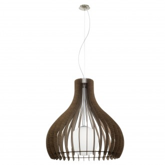 EGLO 96219   Tindori Eglo függeszték lámpa 1x E27 matt nikkel, barna, fehér