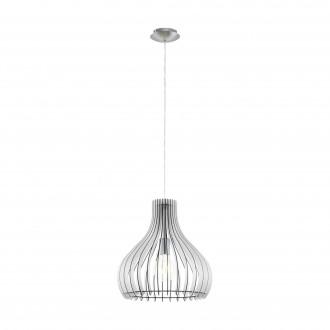EGLO 96257   Tindori Eglo függeszték lámpa 1x E27 matt nikkel, fehér
