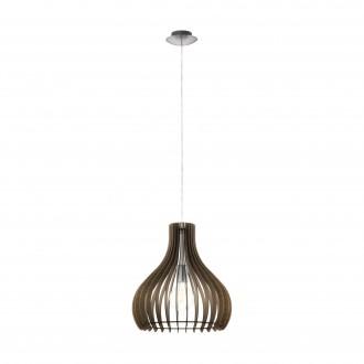 EGLO 96259   Tindori Eglo függeszték lámpa 1x E27 matt nikkel, barna