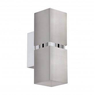 EGLO 96264 | Passa Eglo falikar lámpa 2x GU10 480lm 3000K matt nikkel, króm