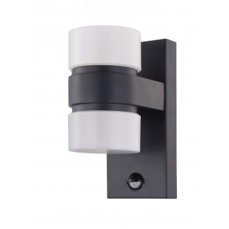 EGLO 96276 | Atollari Eglo fali lámpa mozgásérzékelő 2x LED 1000lm 3000K IP44 antracit, fehér