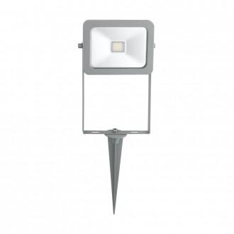 EGLO 96285 | Faedo Eglo fényvető leszúrható lámpa villásdugó - kapcsoló nélkül elforgatható alkatrészek 1x LED 900lm 6500K IP44 ezüst, átlátszó