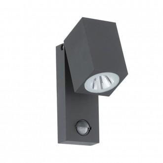 EGLO 96287 | Sakeda Eglo fali lámpa mozgásérzékelő 1x LED 650lm 3000K IP44 antracit